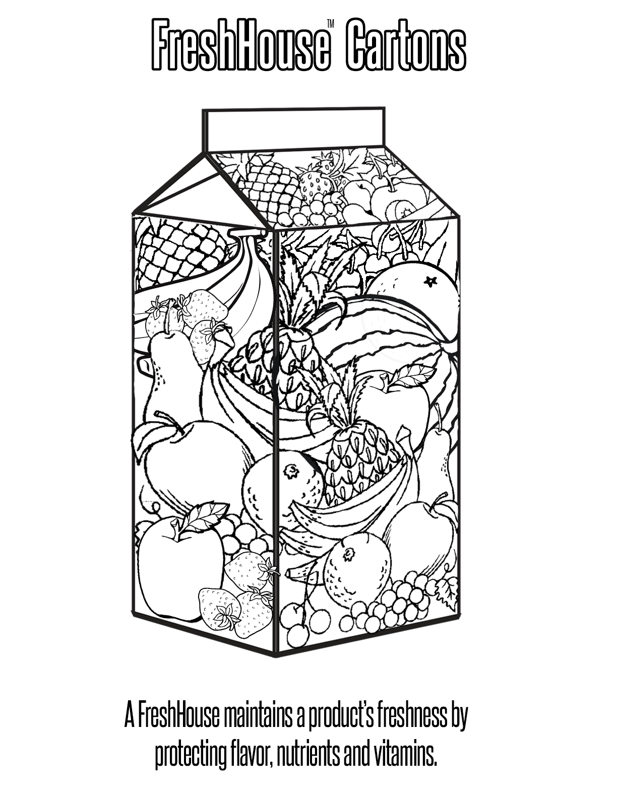 Carton Printable Coloring Pages